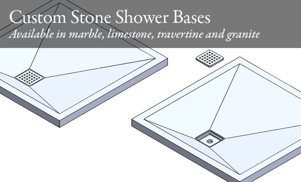 Custom Stone Shower Bases