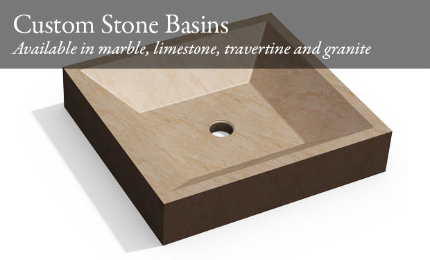Picture of square stone basin