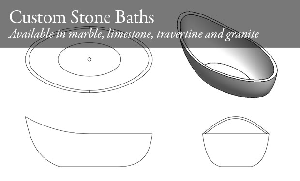 Custom stone baths diagram